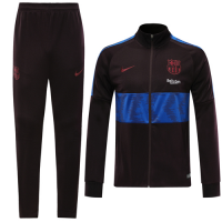 19/20 Barcelona Dark Red High Neck Collar Training Kit(Jacket+Trouser)