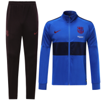 19/20 Barcelona Blue High Neck Collar Training Kit(Jacket+Trouser)