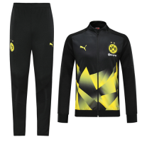 19/20 Borussia Dortmund Black High Neck Collar Training Kit(Jacket+Trouser)