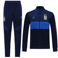 19/20 Tigres UANL Navy&Blue High Neck Collar Training Kit(Jacket+Trouser)
