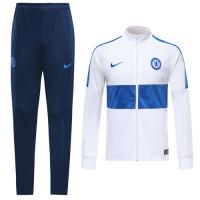 19/20 Chelsea White High Neck Collar Training Kit(Jacket+Trouser)