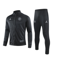 19/20 PSG Black High Neck Collar Training Kit(Jacket+Trouser)