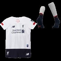 19-20 Liverpool Away White Children's Jerseys Kit(Shirt+Short+Socks)