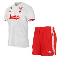 19/20 Juventus Away White Soccer Jerseys Kit(Shirt+Short)