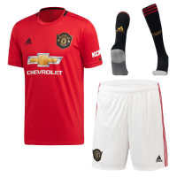 19-20 Manchester United Home Red Jerseys Kit(Shirt+Short+Socks)