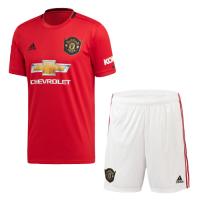 19-20 Manchester United Home Red Jerseys Kit(Shirt+Short)