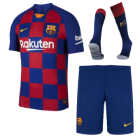 19/20 Barcelona Home Blue&Red Soccer Jerseys Kit(Shirt+Short+Socks)