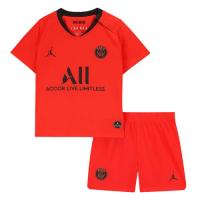 19/20 PSG Away Red&Orange Children's Jerseys Kit(Shirt+Short)