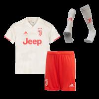 19-20 Juventus Away White Children's Jerseys Kit(Shirt+Short+Socks)