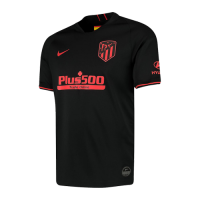 19-20 Atletico Madrid Away Black Soccer Jerseys Shirt