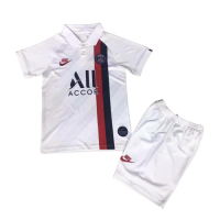 19/20 PSG Third Away White Children's Jerseys Kit(Shirt+Short)