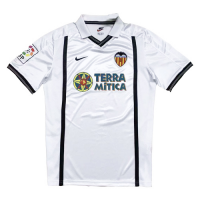 00/01 Valencia Home White Retro Jerseys Shirt
