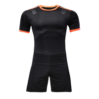 Customize Team Black&Orange Player Version Soccer Jerseys Kit(Shirt+Short)