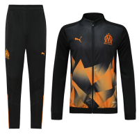 19/20 Marseilles Black&Orange High Neck Collar Training Kit(Jacket+Trouser)