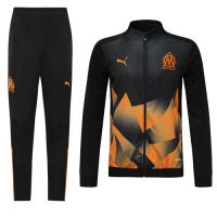 19/20 Marseilles Black&Orange High Neck Collar Training Kit(Jacket+Trouser)