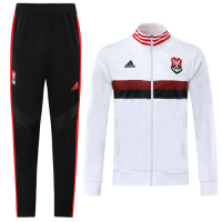19/20 CR Flamengo White High Neck Collar Training Kit(Jacket+Trousers)