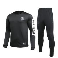 19/20 PSG Black O-Neck Sweat Shirt Kit(Top+Trouser)