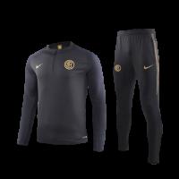 19/20 Inter Milan Black Zipper Sweat Shirt Kit(Top+Trouser)