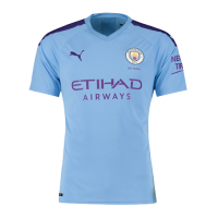 19/20 Manchester City Home Blue Jerseys Shirt(Player Version)