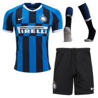 19/20 Inter Milan Home Navy&Black Soccer Jerseys Kit(Shirt+Short+Socks)