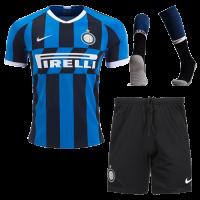 19/20 Inter Milan Home Navy&Black Soccer Jerseys Kit(Shirt+Short+Socks)
