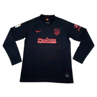 19/20 Atletico Madrid Away Black Long Sleeve Jerseys Shirt