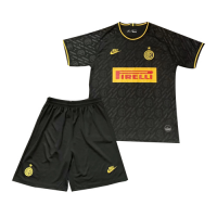 19/20 Inter Milan Third Away Black Children's Jerseys Kit(Shirt+Short)