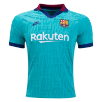 19/20 Barcelona Third Away Blue Soccer Jerseys Shirt
