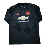 19/20 Manchester United Third Away Black Long Sleeve Jerseys Shirt