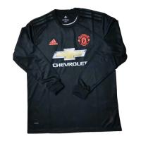19/20 Manchester United Third Away Black Long Sleeve Jerseys Shirt