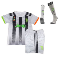 19/20 Juventus X Palace Home White Children's Jerseys Whole Kit(Shirt+Short+Socks)