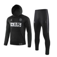 19/20 PSG Black Hoodie Sweat Shirt Kit(Top+Trouser)