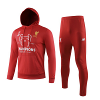 19/20 Liverpool Red Hoodie Sweat Shirt Kit(Top+Trouser)