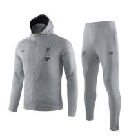 19/20 Liverpool Gray Hoodie Training Kit(Jacket+Trouser)
