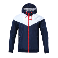 Customize Team Blue&Navy Hoodie Windrunner Jacket