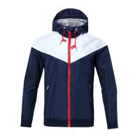 Customize Team Blue&Navy Hoodie Windrunner Jacket Customize Blue Woven Windrunner,