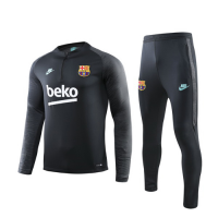 19/20 Barcelona Gray Zipper Sweat Shirt Kit(Top+Trouser)