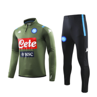 19/20 Napoli Dark Green Zipper Sweat Shirt Kit(Top+Trouser)