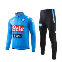 19/20 Napoli Blue Zipper Sweat Shirt Kit(Top+Trouser)
