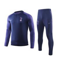 19/20 Tottenham Hotspur Navy Zipper Sweat Shirt Kit(Top+Trouser)