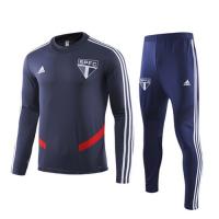 19/20 Sao Paulo Navy O-Neck Sweat Shirt Kit(Top+Trouser)