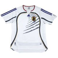 2006 World Cup Japan Away White Retro Soccer Jerseys Shirt