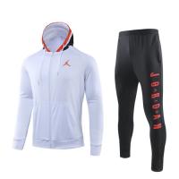 JORDAN White Hoodie Training Kit(Jacket+Trouser)