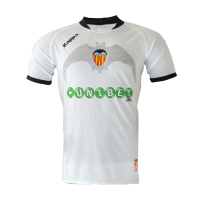 09/10 Valencia Home White Retro Jerseys Shirt
