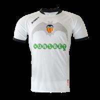 09/10 Valencia Home White Retro Jerseys Shirt
