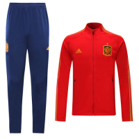 2019 Spain Red High Neck Collar Training Kit(Jacket+Trouser)