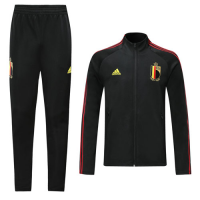 2019 Belgium Black High Neck Collar Training Kit(Jacket+Trousers)
