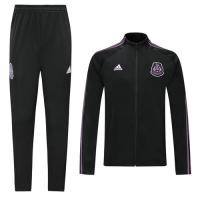 2019 Mexico Black&Purple High Neck Collar Training Kit(Jacket+Trousers)
