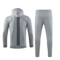 19/20 Real Madrid Gray Hoody Training Kit(Jacket+Trouser)