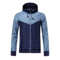Customize Team Gray&Navy Hoodie Windrunner Jacket Customize Blue Woven Windrunner